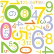 Background with numbers - Stockvectorbeeld