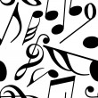 Endless music pattern - Stock Vector