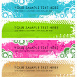 Set of light grunge banners — Stock Vector #6887810