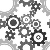 Seamless cogwheel pattern — Stock Vector