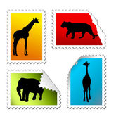 Safari-post-marken — Stockvektor