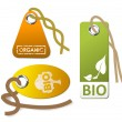 Stock Vector: Set of tags for organic
