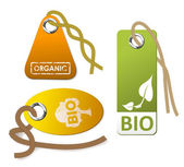 Set of tags for organic — Stock Vector
