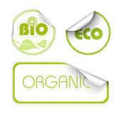 Set of labels for organic — Stock Vector