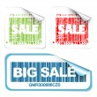 Set of fresh white sale labels — Stock Vector