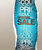 Anuncio de venta de descuento — Vector de stock