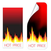 Hot price labels — Stock Vector