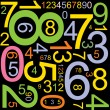 Abstract background with numbers - Stockvectorbeeld