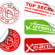 Top secret labels and stickers - Stock Vector