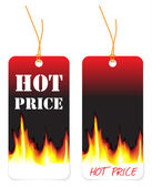 Hot price tags — Stock Vector