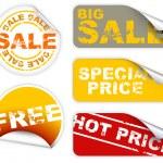 Set of sale labels — Stock Vector
