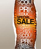 Prodej slevy inzerce — Stock vektor