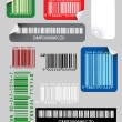 Set of color bar codes — Stock Vector #7020219