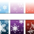 Abstract background with snowflakes — Stock Vector