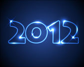 Blue vector neon New Year card 2012 — Stock Vector