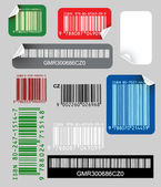 Set of color bar codes — Stock Vector