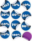 Etiketten badges en stickers — Stockvector