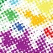 Random halftone colorful background — Stock Vector