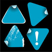 Blue triangle labels — Stock Vector