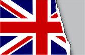 Grunge flag of United Kingdom — Stock Vector