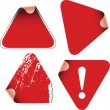 Triangle labels badges stickers — Stock Vector