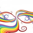 Royalty-Free Stock Vector Image: Abstract rainbow background