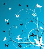 Vlinders achtergrond — Stockvector