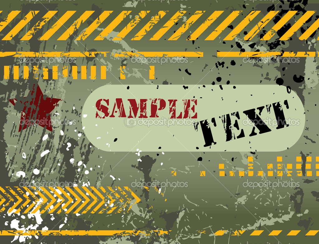Army, navy, grunge background - for different text use my another illustration called Grunge Alphabet  Stock Vector #7087521