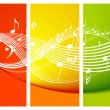 Fresh music theme - Stock Vector