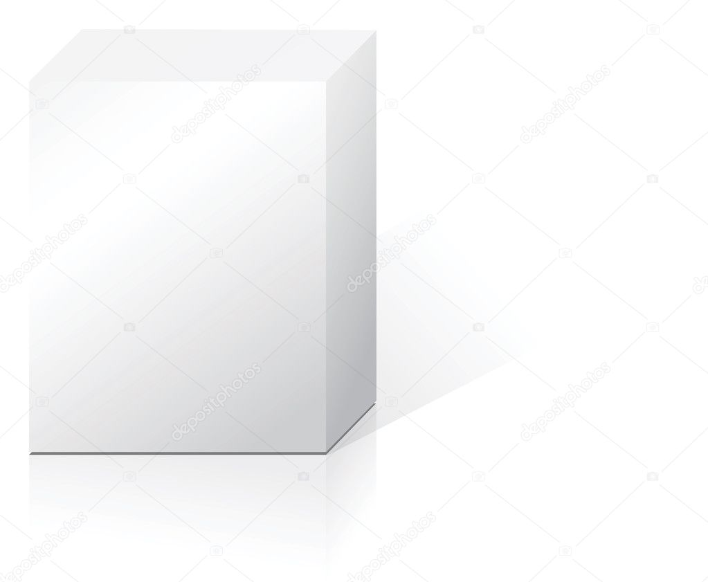 White abstract product box with reflection and shadow  Stock Vector #7118775