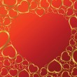 Royalty-Free Stock ベクターイメージ: Valentines background with hearts