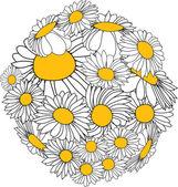 Flower sphere — Stock Vector