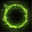 Vector Abstract green technical background - Stockvectorbeeld