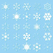 White snowflakes - Imagen vectorial