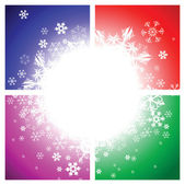 Abstract background - snowflakes — Stock Vector