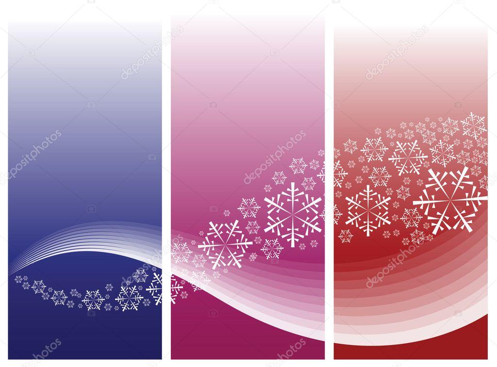 雪花的抽象曲线 — 图库矢量图片 #7175362