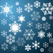 Set of snowflakes - Vettoriali Stock