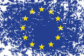 Grunge flag of European Union — Stock Vector