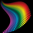 Abstract rainbow dots - Stockvectorbeeld