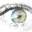 Abstract human - digital - eye - Stock Vector