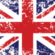 Grunge flag of United Kingdom — Vector de stock #7228261