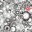 Vector de stock : Black and white circles