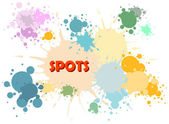 Vector color spots background — Stock Vector