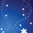 Stock Vector: Flying snowflakes