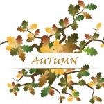 tema autunno — Vettoriale Stock