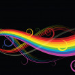 Abstract rainbow curves — Stock Vector