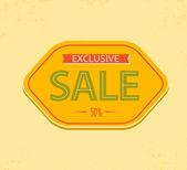 Old retro vector vintage sale label — Stock Vector