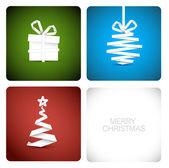 Kağıttan yapılmış basit vektör christmas dekorasyon — Stok Vektör