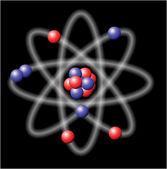 Atom - vector illustration — Stock Vector