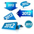 Vector 2012 Labels, stickers, pointers, tags — Stock Vector